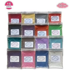 CuteyCo CraftySand's Big Pack: 16 lbs & 16 Colors for Kids' Play Sand, Sand Art