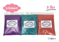 CuteyCo Crafty Sand Pack - 3 Colors: 3 lbs of Vibrant Craft Sand & Play Sand